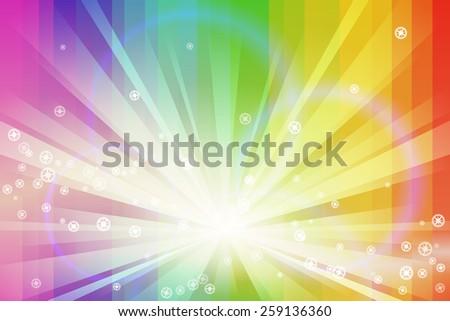 Spectrum Burst - stock vector