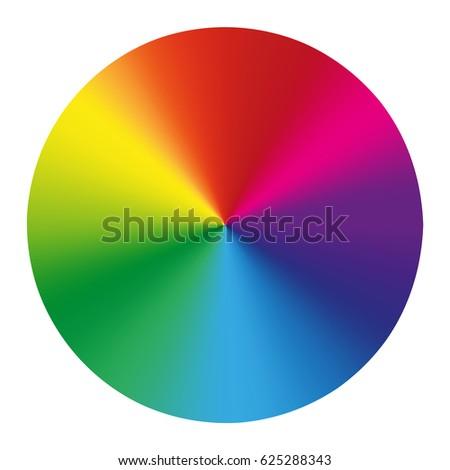 Spectrum Color Wheel On White Background Vector Illustration