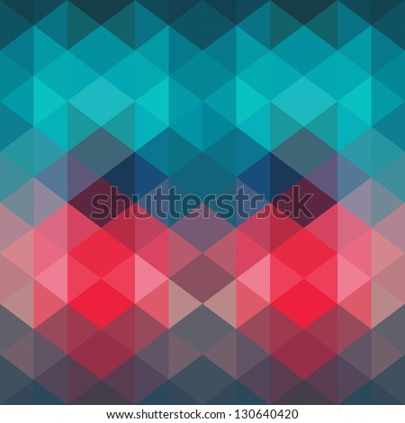 Spectrum geometric background made of triangles. Retro hipster color spectrum grunge background. Square composition with geometric color flow effect. Color wheel - stock vector