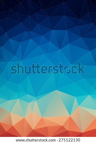 Spectrum geometric background made of triangles with geometric color flow effect. Color wheel - stock vector