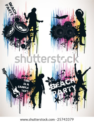 Spectrum Music Poster Elements - stock vector