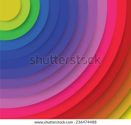 Spectrum radiation, vector art - stock vector