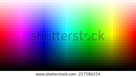 Spectrum representing RGB color space - stock vector