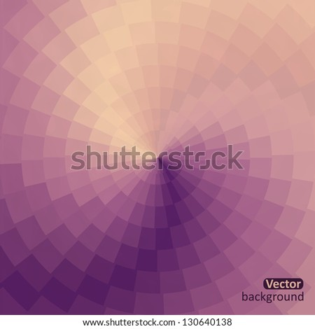 Spectrum wheel made of bricks. Rainbow color spectrum grunge background. Square composition with geometric color flow effect. Color wheel - stock vector