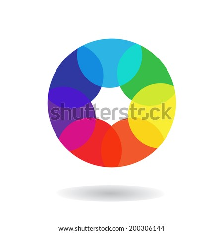 Spectrum wheel, vector illustration