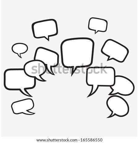 Speech balloon vector - stock vector