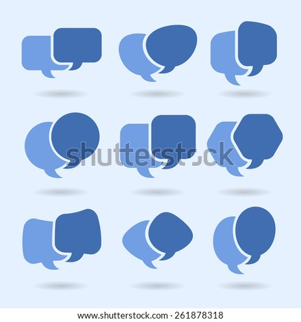 Speech balloons, social media conversation and networking - stock vector