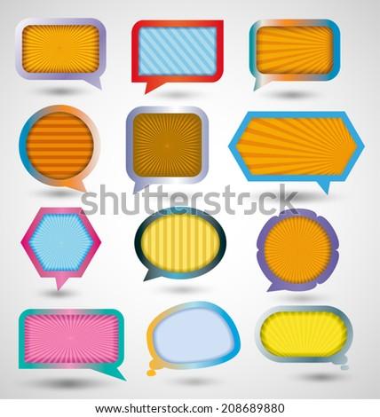 speech bubble - stock vector