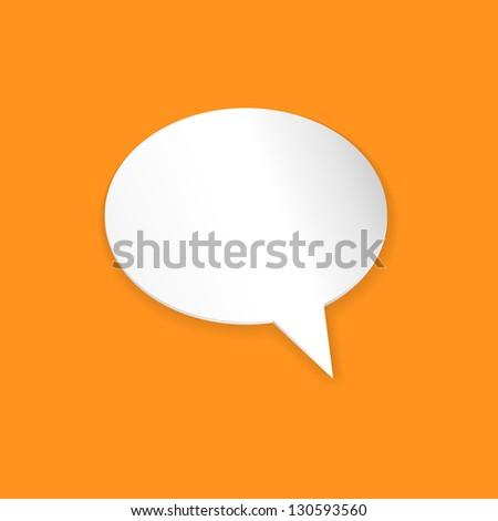 Speech Bubble Background. Vector Illustration - stock vector
