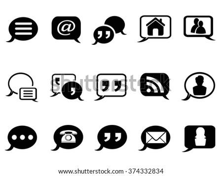Speech bubble blog icons set - stock vector