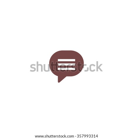 Speech bubble. Colorful vector icon. Simple retro color modern illustration pictogram. Collection concept symbol for infographic project and logo - stock vector