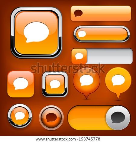 Speech bubble design elements for website or app. Vector eps10.  - stock vector