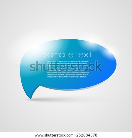 Speech Bubble Design Template
