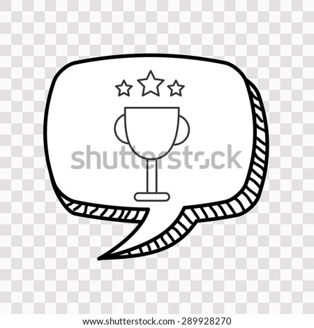 speech bubble design, vector illustration eps10 graphic  - stock vector