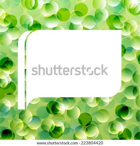 Speech bubble green ecology vector background - stock vector