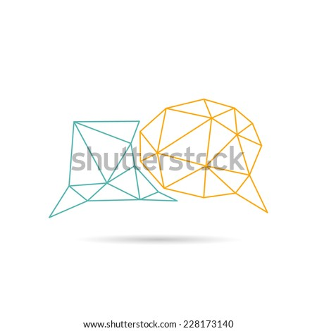 Speech bubble icon abstract isolated on a white backgrounds, vector illustration - stock vector