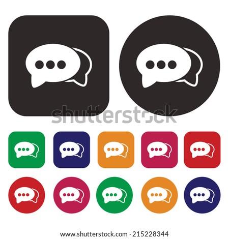 Speech bubble icon / chat icon - stock vector