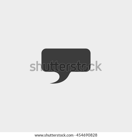 Speech bubble icon in a flat design in black color. Vector illustration eps10 - stock vector
