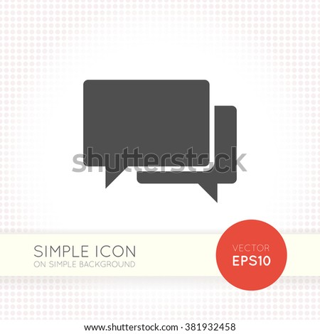 Speech bubble icon isolated on white background. Graphic vector speech bubble icon ai objects. EPS Drawing of user interface button for website. - stock vector
