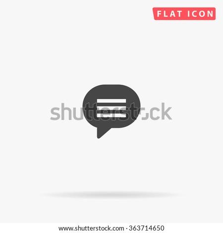 Speech bubble Icon Vector.  - stock vector