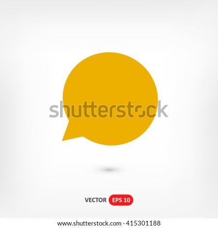 Speech bubble icon vector, Speech icon eps10, Speech bubble icon picture, Speech bubble icon flat, Speech bubble icon, Speech bubble web icon, Speech bubble icon art, Speech icon, Speech bubble icon - stock vector