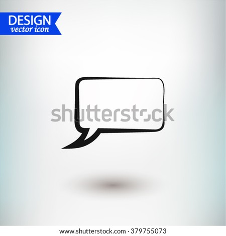 Speech bubble icons black icon, vector illustration. Flat design