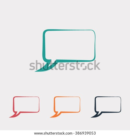 Speech bubble icons black icon, vector illustration. Flat design style