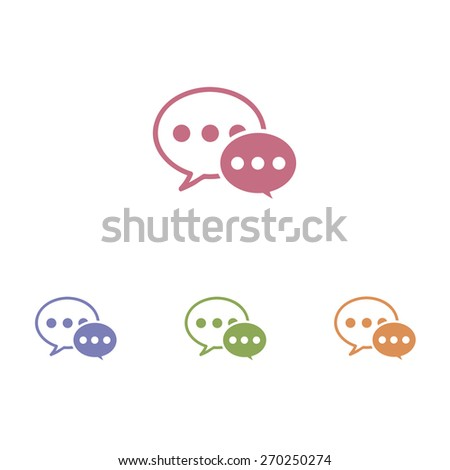 Speech bubble icons on white background. - stock vector