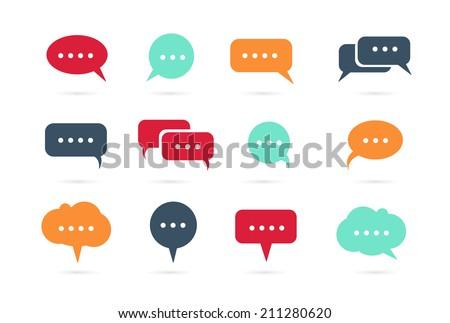Speech bubble icons vector - stock vector