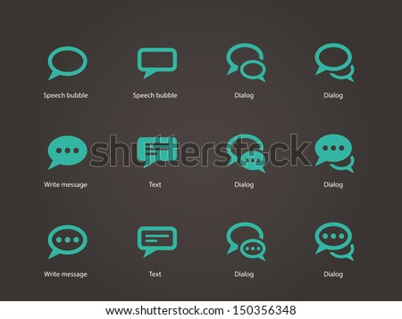 Speech bubble icons. Vector illustration. - stock vector