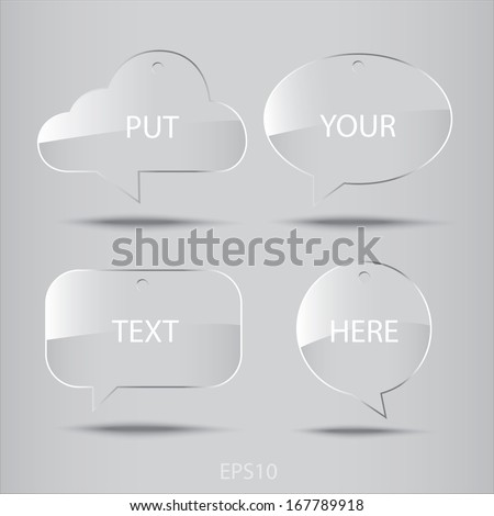 Speech bubble : Illustration EPS10 - stock vector