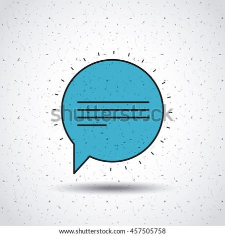 speech bubble isolated icon design, vector illustration  graphic - stock vector