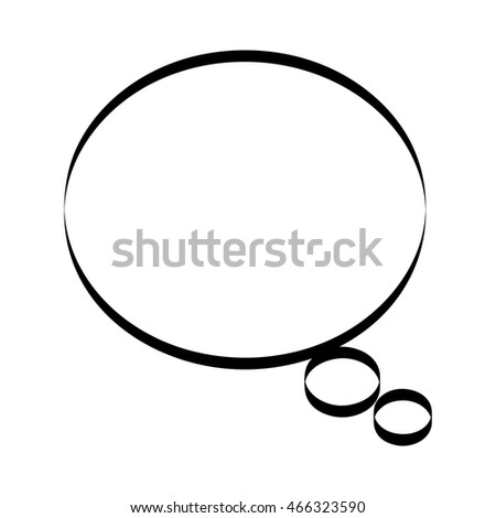 speech bubble monochrome message icon vector illustration design