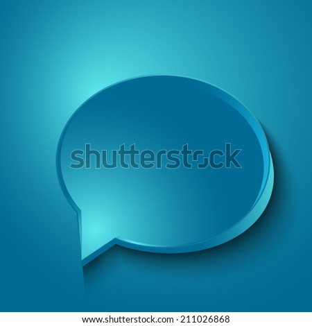 speech bubble on a blue background - stock vector