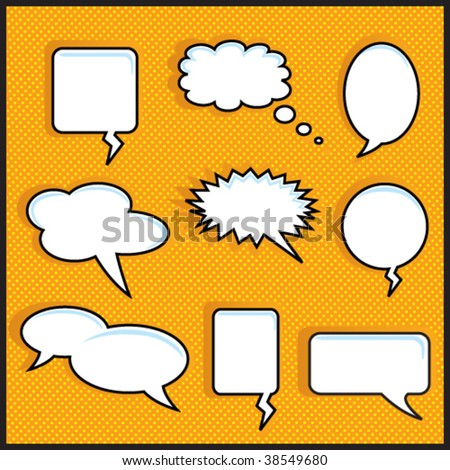 Speech Bubble On Orange Halftone