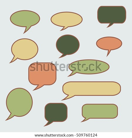 Speech bubble. Set of vector illustration icons.