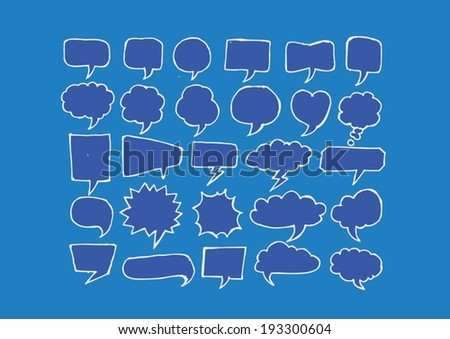 Speech Bubble Sketch hand drawn bubble speech - stock vector