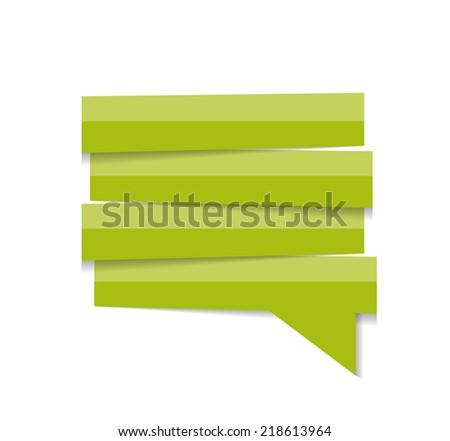 Speech Bubble Template Vector Illustration - stock vector
