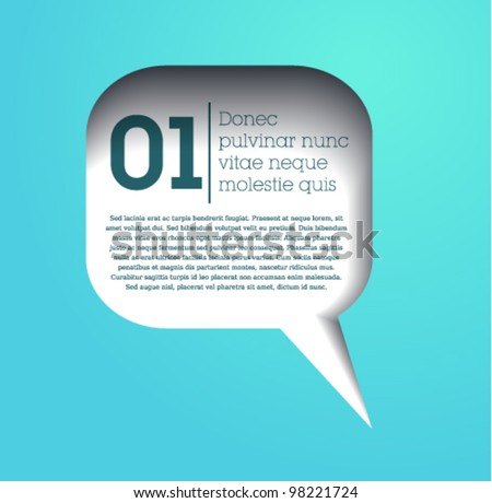 speech bubble / text bubble frame / vector / simple design / web / blue - stock vector