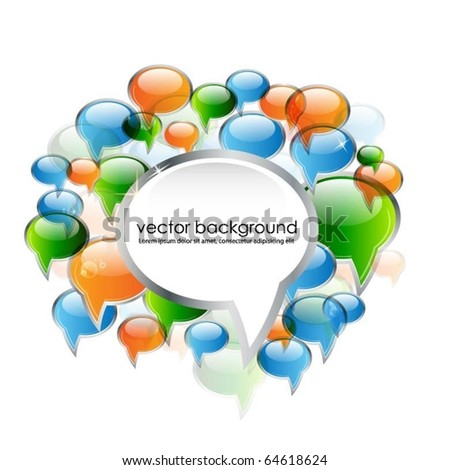 speech bubble vector - stock vector