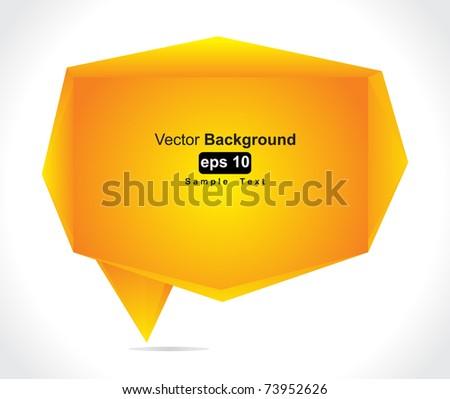 Speech bubble vector background - stock vector