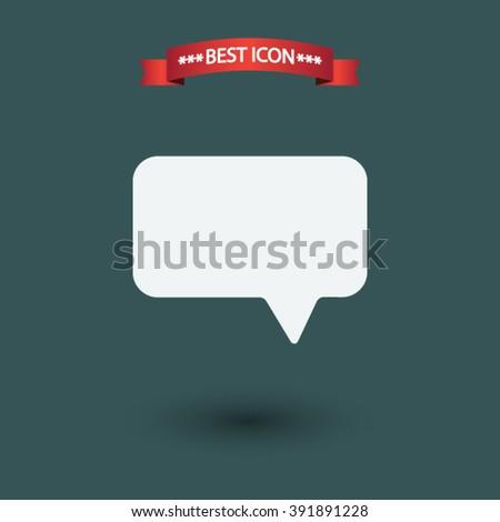 Speech bubble vector icon - stock vector