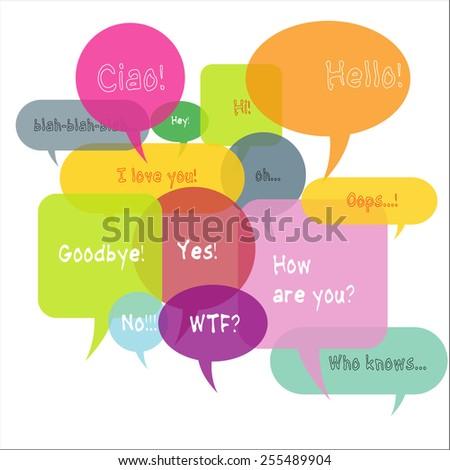 Speech bubble vector illustration - stock vector