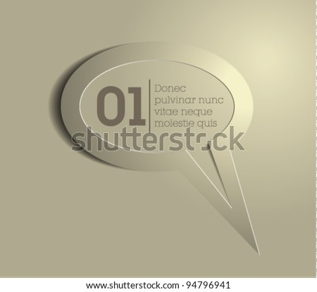 speech bubble vector / message icon vector - stock vector