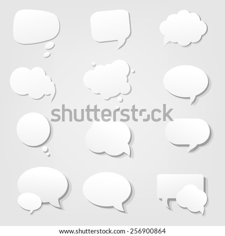 Speech Bubble With Gradient Mesh, Vector Illustration - stock vector