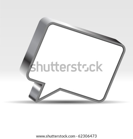 Speech bubble with negative space to insert text - stock vector