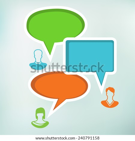 Speech Bubble with People Icon