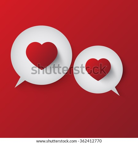 Speech Bubble With Red Hearts