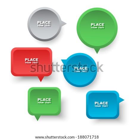 Speech bubbles. - stock vector