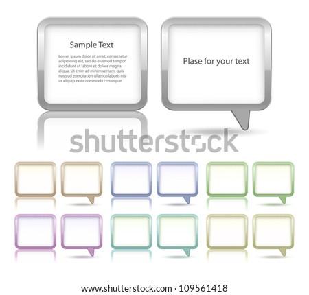 Speech bubbles and dialog boxes set - stock vector
